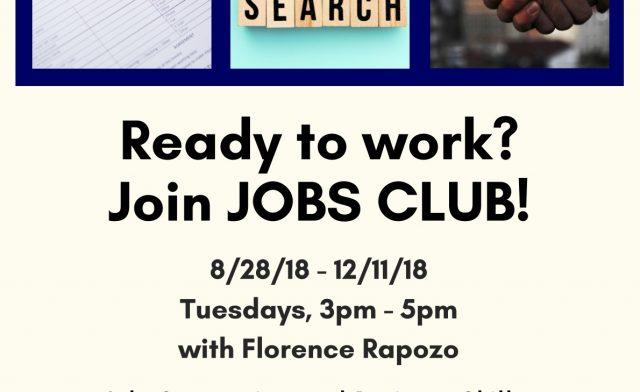 Job Club – Summer/Fall 2018