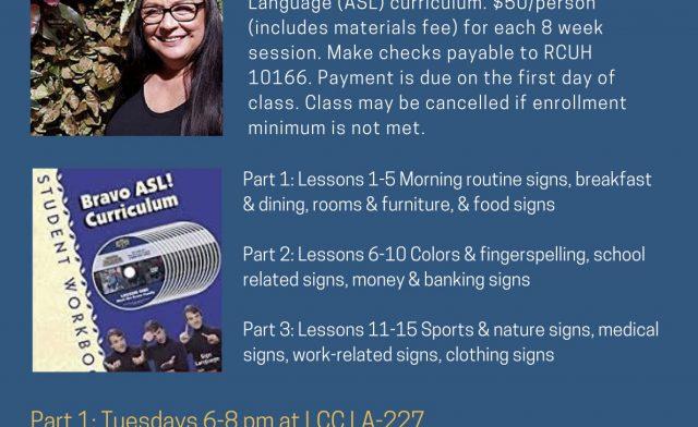 Community ASL Class