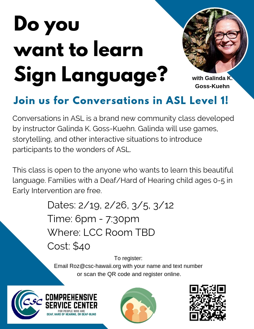 Conversations in ASL Level 1 Flyer
