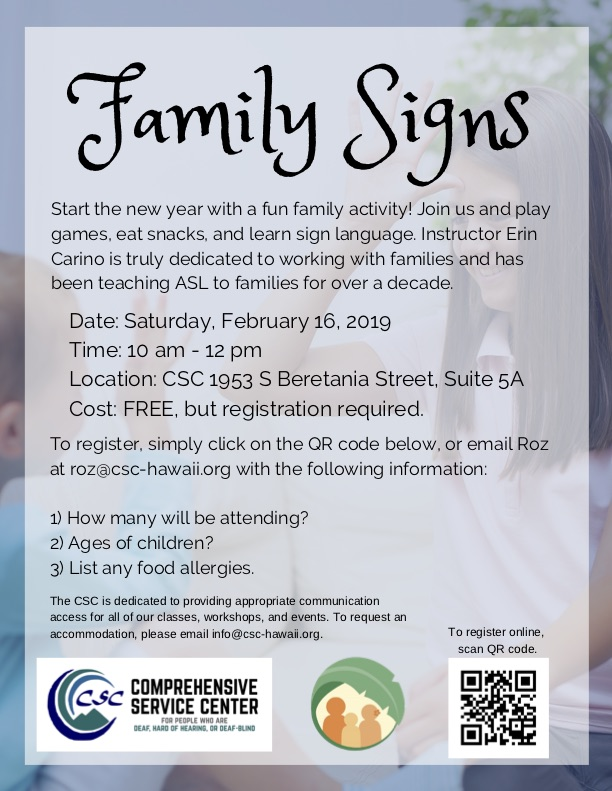 Family Signs Flyer
