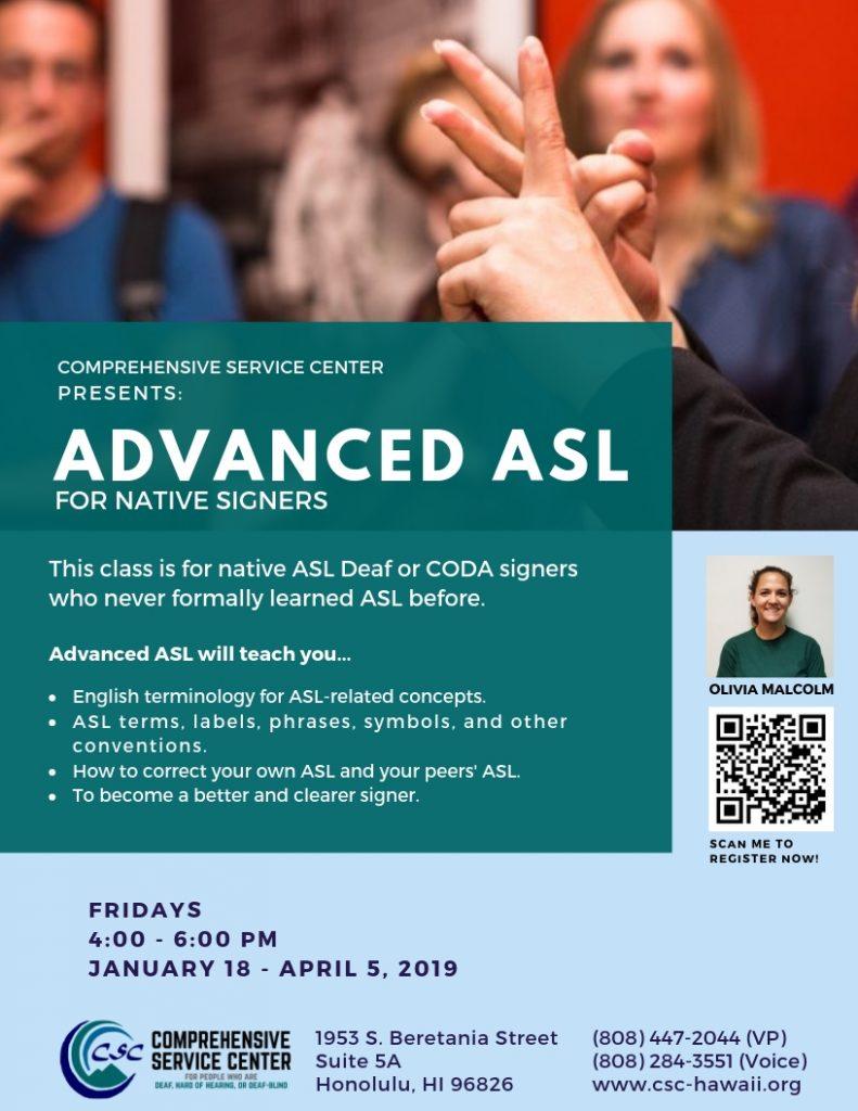 Advanced ASL Flyer