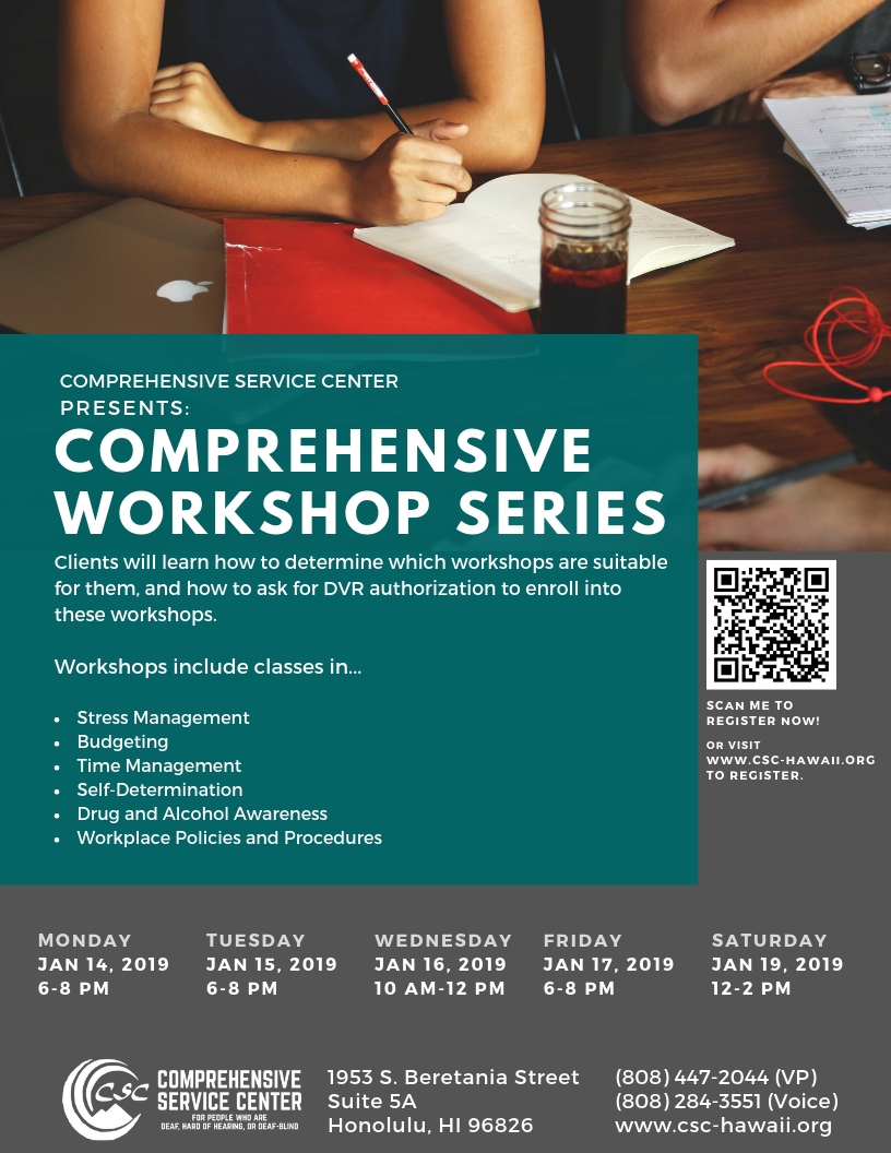 Comprehensive Workshop Series Flyer