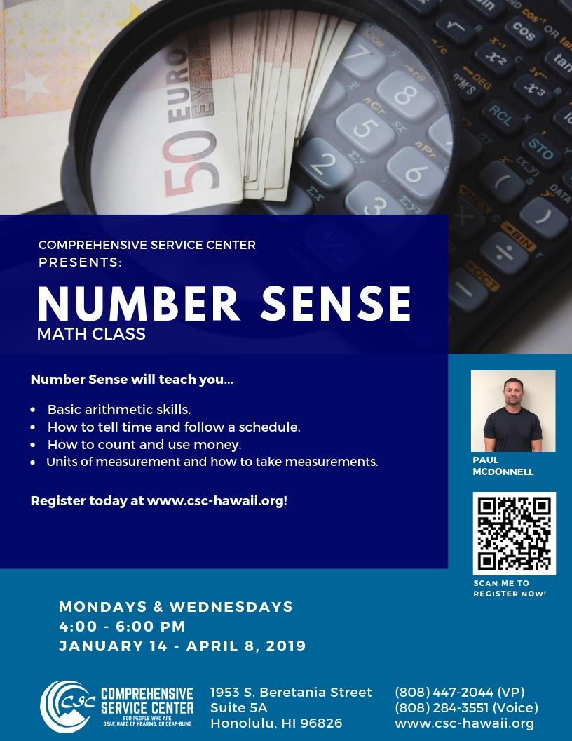 Number Sense Flyer