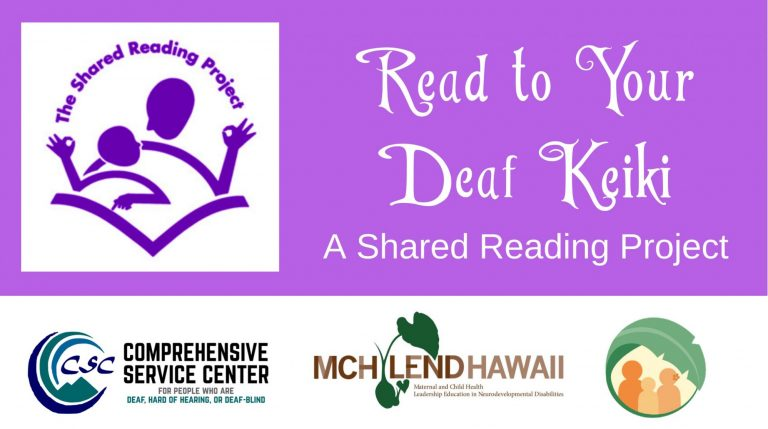 Read to Your Deaf Keiki logo