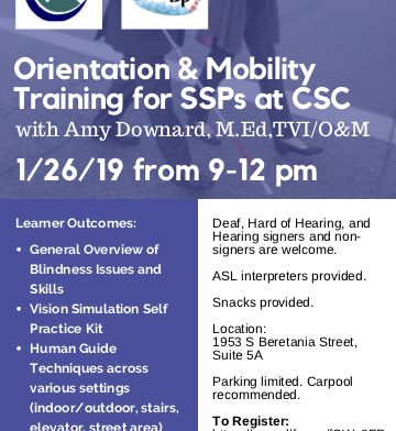 Orientation & Mobility Training for SSPs