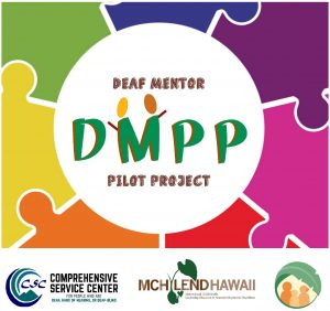 puzzle pieces that connect with acircle int he media DMPP Deaf mentor pilot project