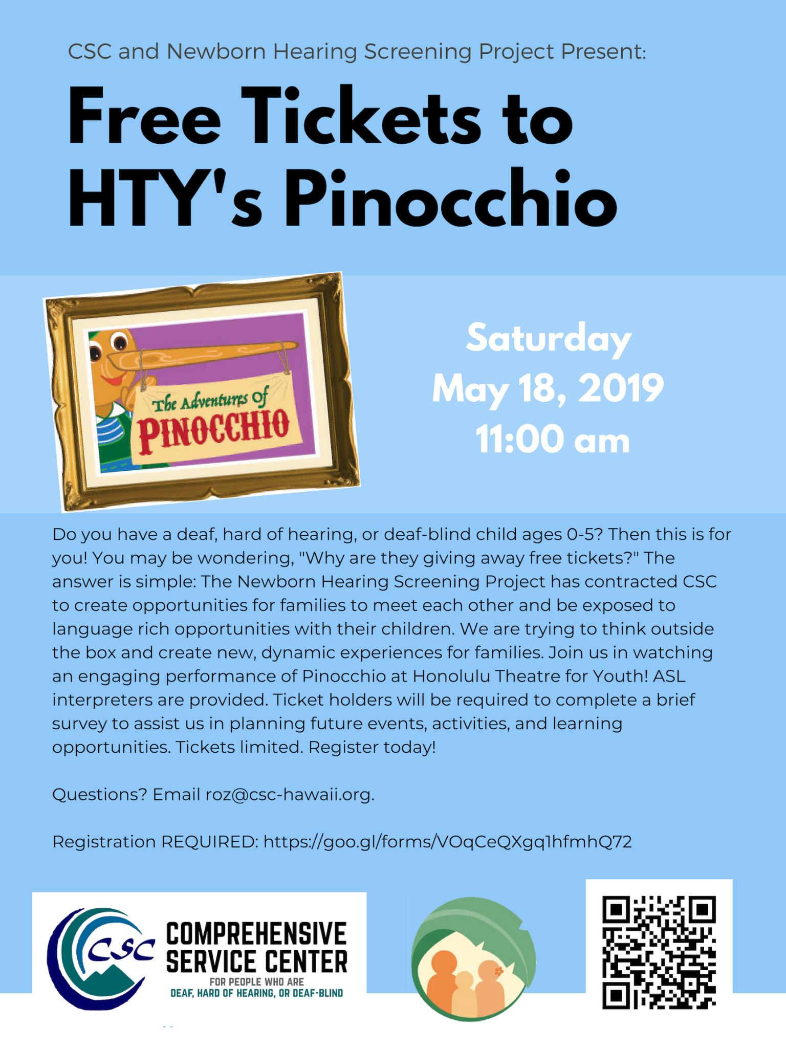 HTY Pinocchio Flyer