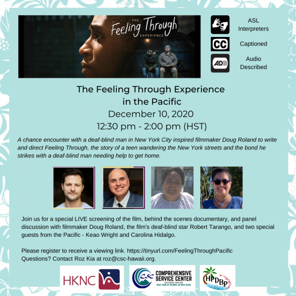 12/10 12:30 pm Feeling Through Experience int he Pacific movie viewing
