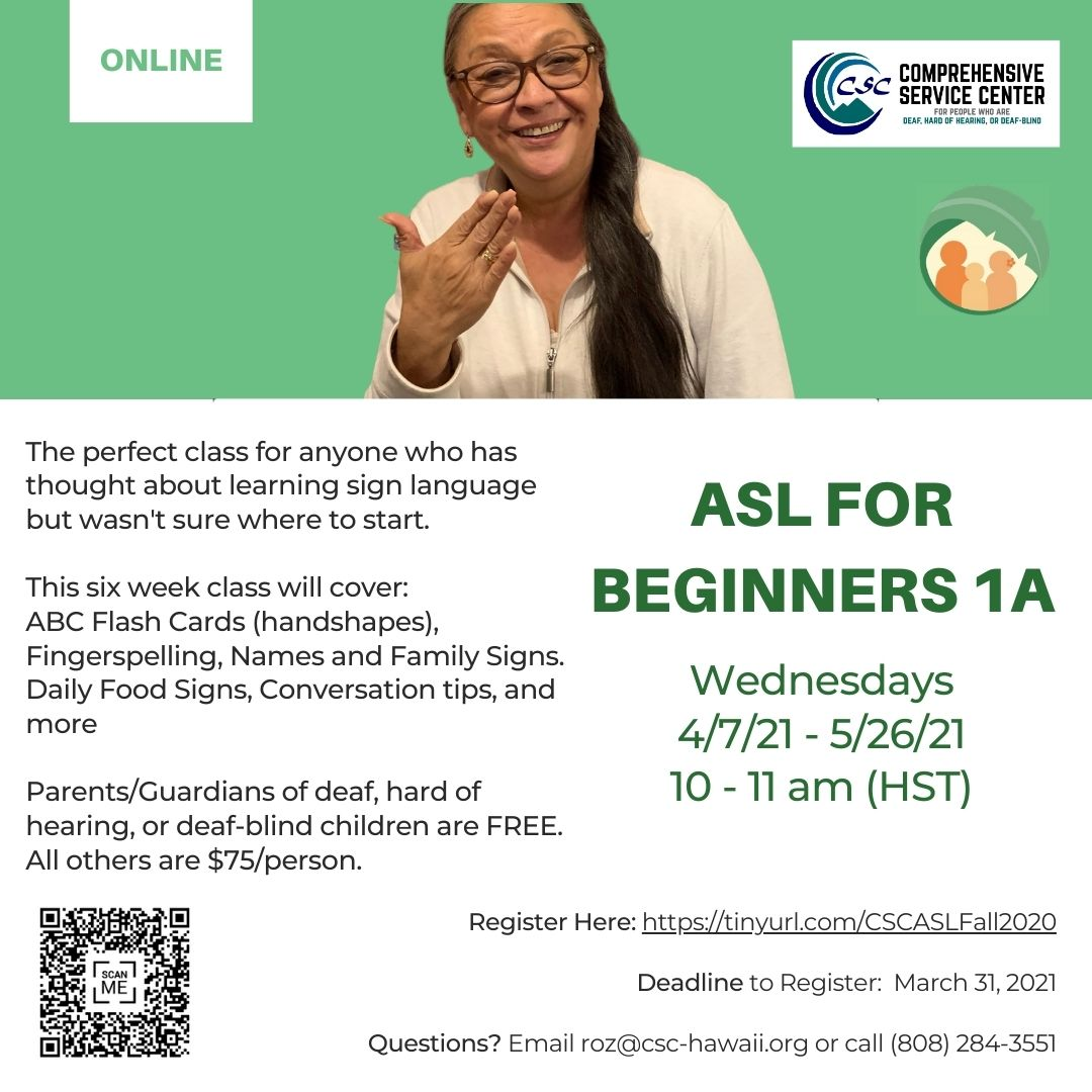 ASL for Beginners 1A