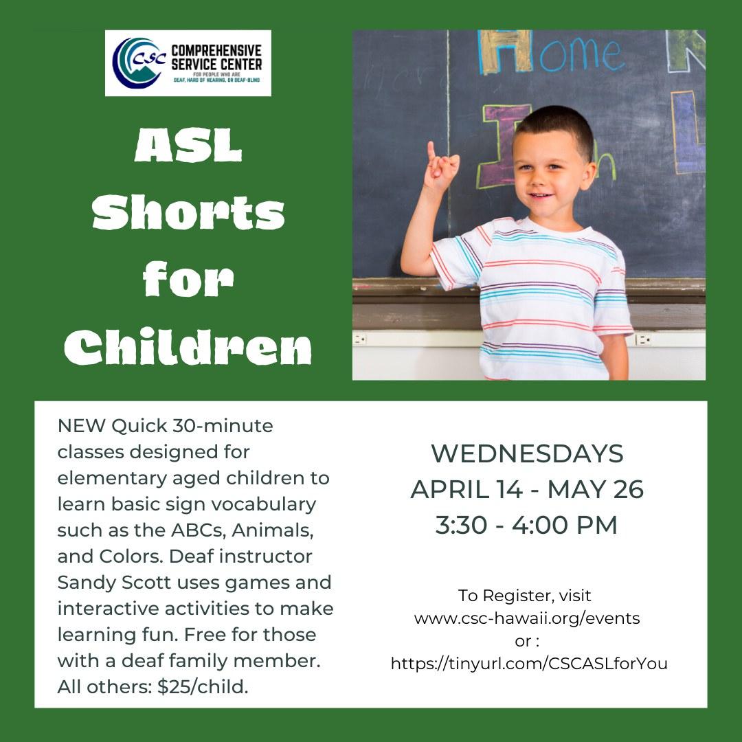 ASL Shorts for Children