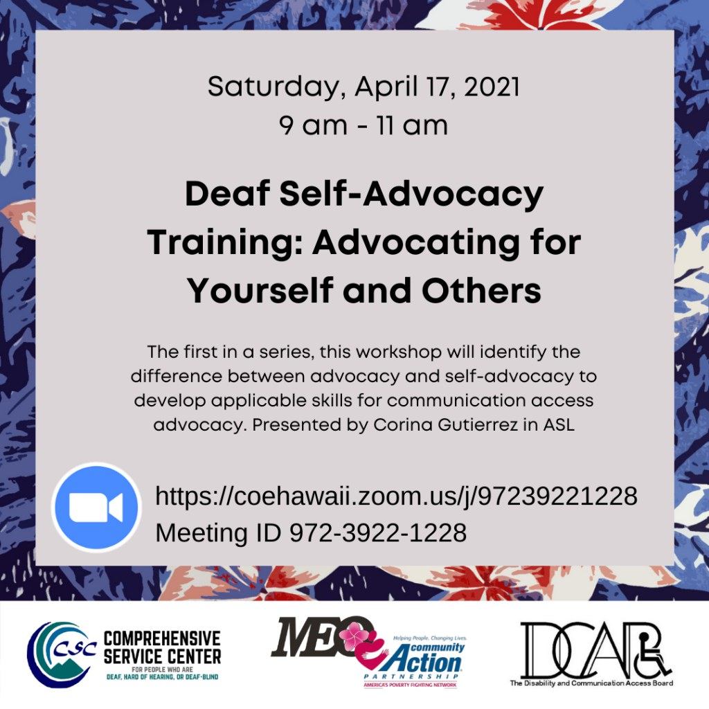 Deaf Self-Advocacy Training: Advocating for Yourself and Others
