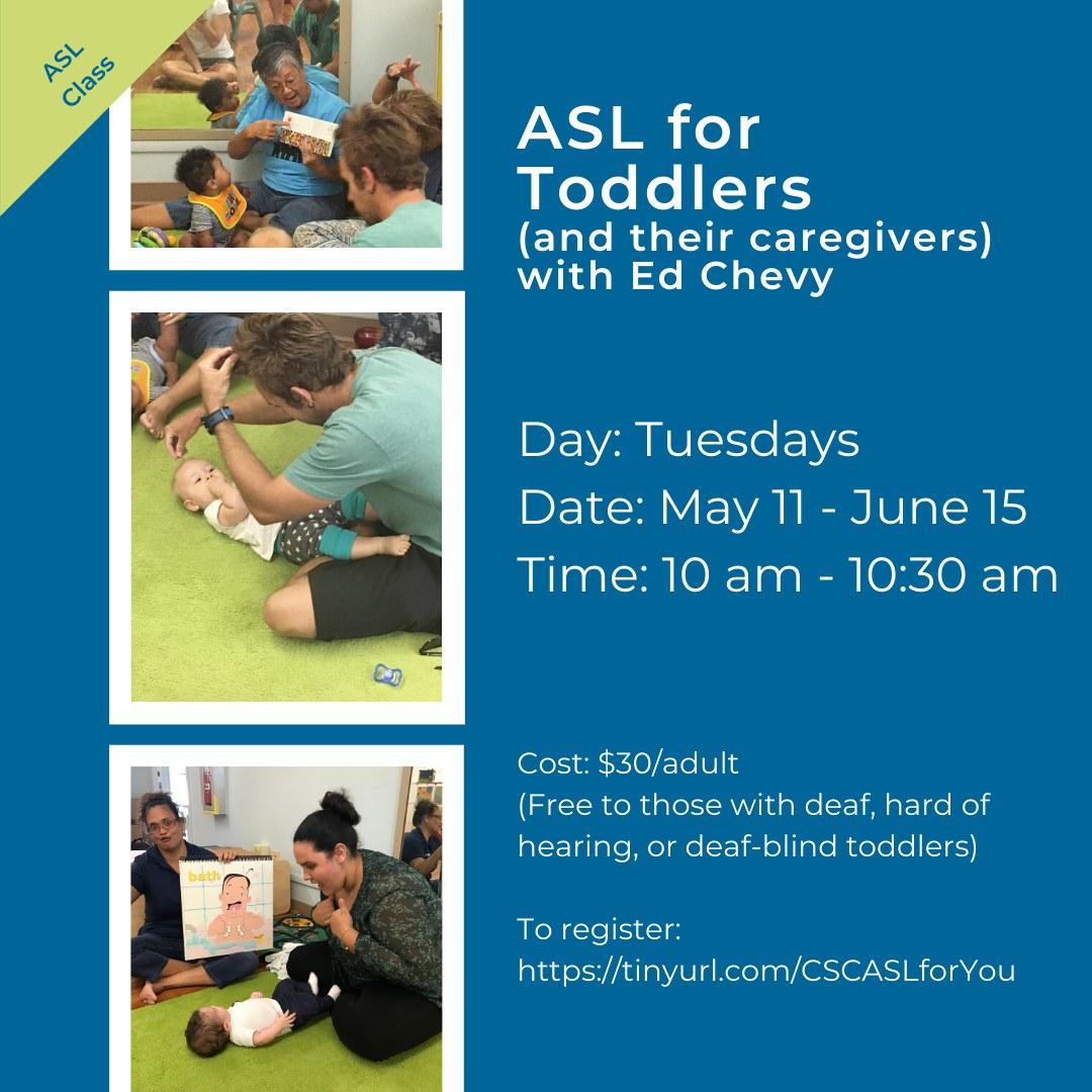 ASL for Toddlers Flyer