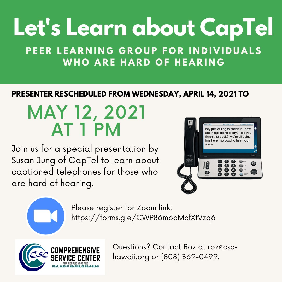 Let's Learn About Captel Flyer