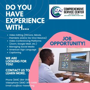 Tech Specialist Position Flyer