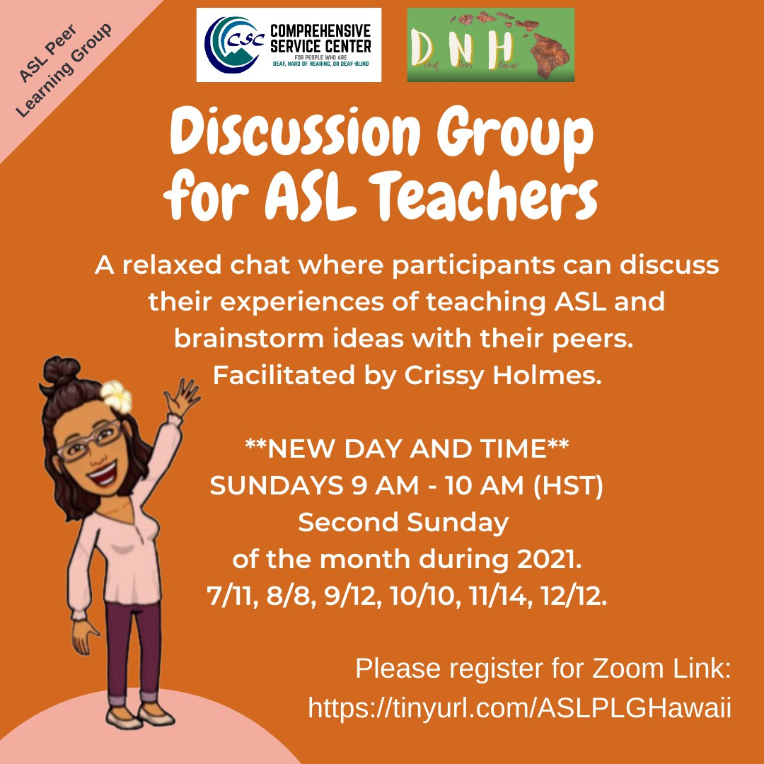 Discussion Group for ASL teachers